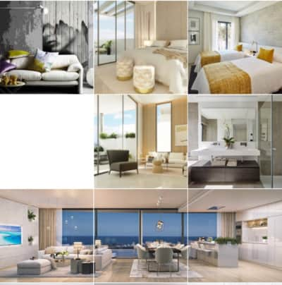 Instagram feed design for marbella real estate